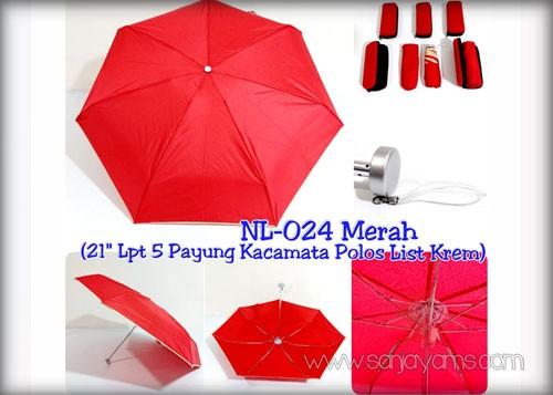 Payung dompet lipat 5 merah