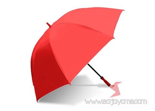 Payung golf warna merah