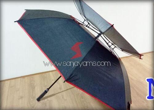 Susunan payung bagian atas payung anti angin