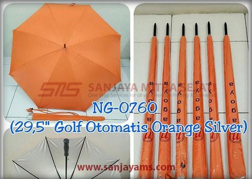 Payung golf otomatis warna orange