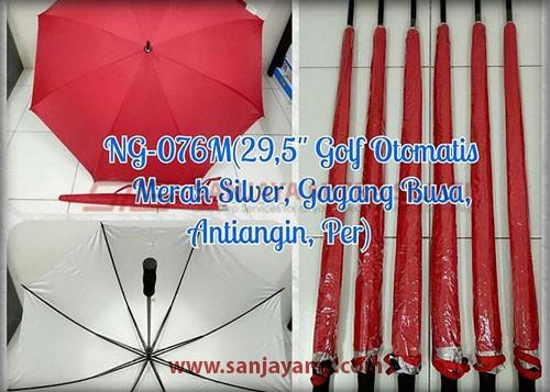 Payung golf otomatis warna merah