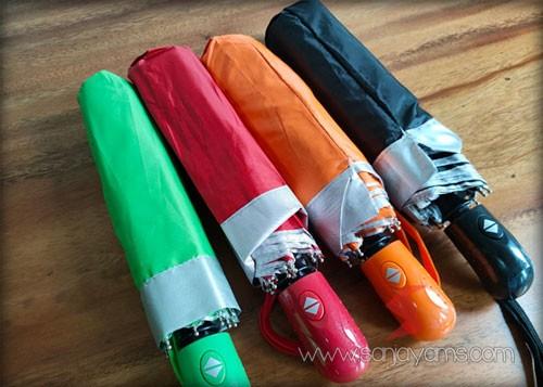 4 pilihan warna payung lipat otomatis buka tutup