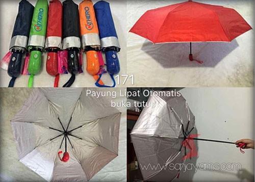 Payung lipat otomatis buka tutup