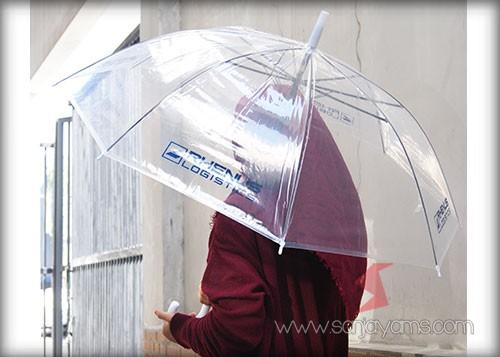 Payung transparant - Rhenus