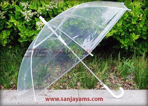 Payung dengan handle putih