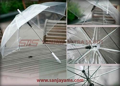 Detail payung transparant