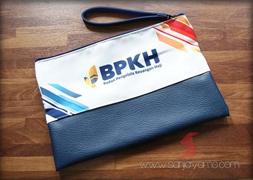Hasil cetak printing di pouch - BPKH