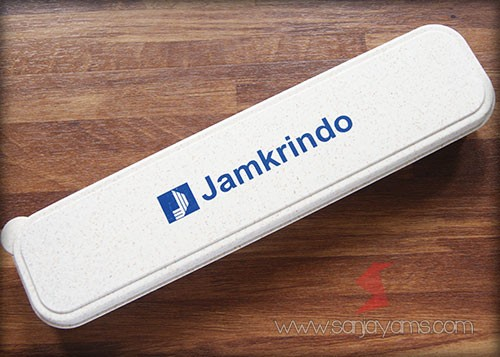 Hasil cetak logo Jamrindo warna cream