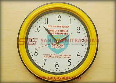 Jam promosi warna kuning - Stikom