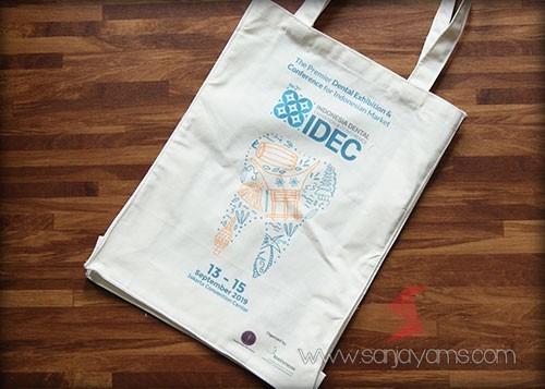 Detail hasil cetakan printing logo - Idec