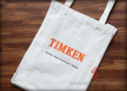 Detail hasil cetak printing logo - Timken