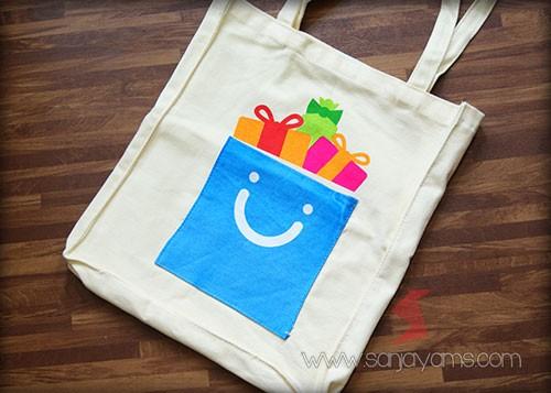 Tas rafel dengan cetakan logo - Blibli