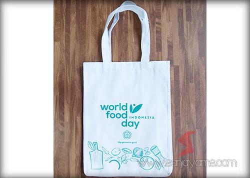 Tas spunbond warna putih - World Food