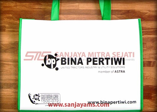 Tas spunbond PT Bina Pertiwi posisi tidur