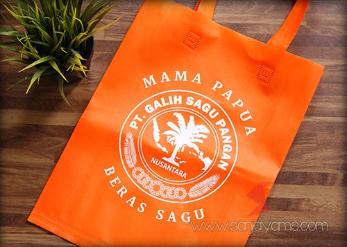 Tas Spunbond Press Tali - Orange