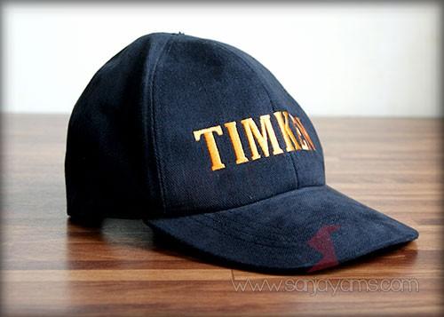 Hasil cetakan bordir pada topi - Timken