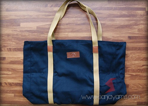 Travel bag warna navy