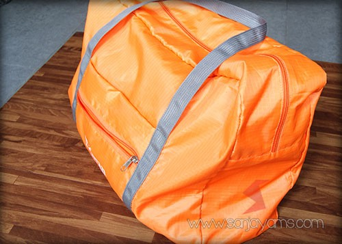 Travel bag setelah dimasukan barang