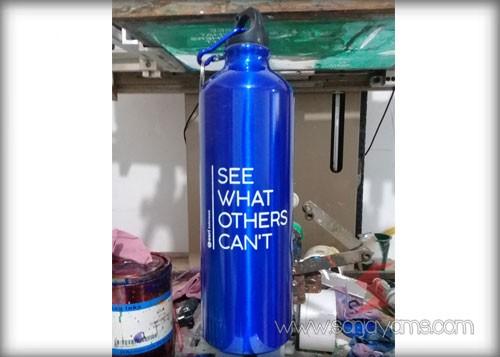 Tumbler warna biru cetakan logo - Esri Indonesia