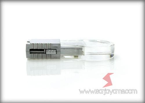 Tampak samping USB acrylic