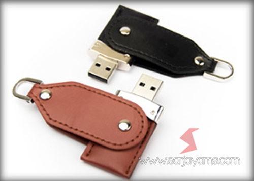 Detail USB Kulit putar