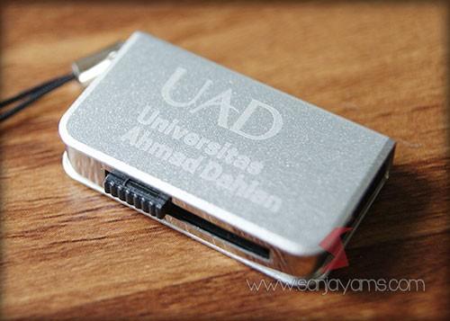 Hasil cetak logo USB Mini - UAD