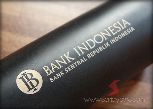 Detail hasil cetakan vacuum thermos Bank Indonesia (500 ml)