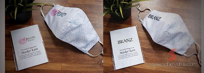 Cetak masker kain printing - Branz