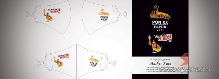 Cetak masker kain printing - PON Papua